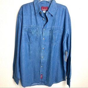 Vintage Marlboro blue denim longsleeve shirt XL